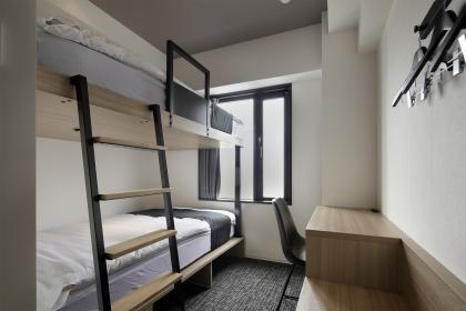 個室ツインルーム(二段ベッド)(シャワー・トイレ付き)シングル利用